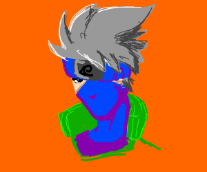 Naruto Character with a mask showing 1 eye