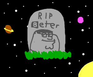 Beter's grave on space