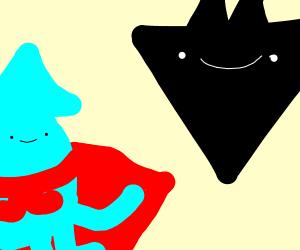super squid vs triangular bat person