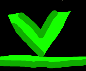 "Neon Green ""V"" on Black with Green Stripe"