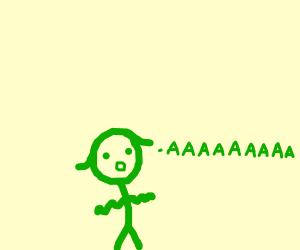 Woman yells
