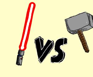 Lightsaber vs Hammer: Who will win?