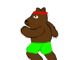 bear jogging