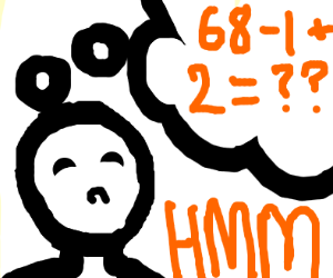 a man thinking about maths