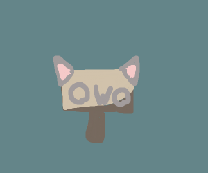 female sign with cat ears