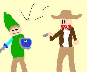 link vs cowboy