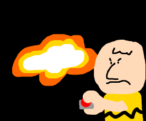 Charlie brown blows up earth!