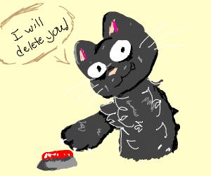 The black cat will delete us all