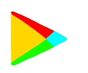 google play logo inverted color ish