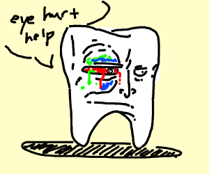 tooth wants to get an eye check