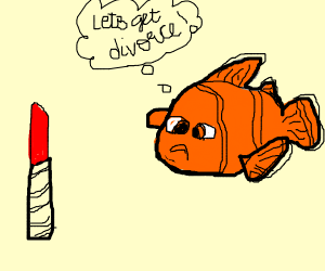 Nemo divorcing Lipstick