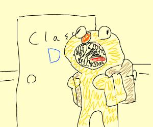 Yellmo at school
