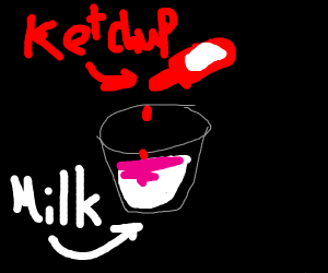 mixing ketchup into your milk