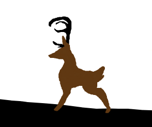 deer with black horns and broawn hair aka me