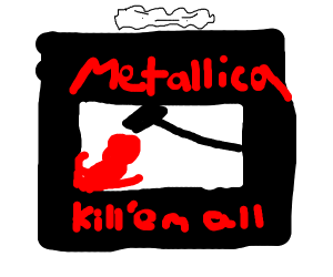 Angry Cloud on top of Kill 'Em All album art