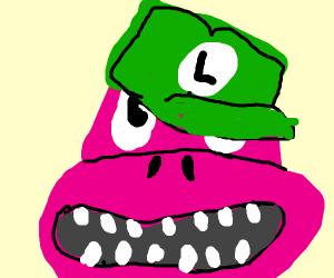 Barnie dressed as Luigi