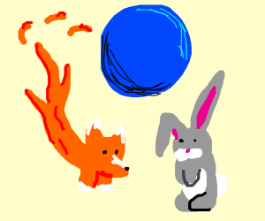 firefox and easter bunny