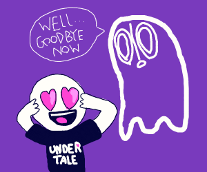 ghost disappears to avoid adoring fan