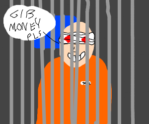 Blind evil prisoner tells you to give money