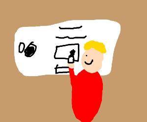 Drawception on draw erase  drawing board