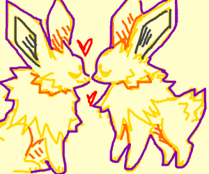 two Jolteons in love