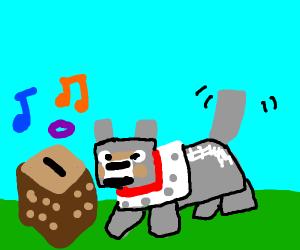 dancing minecraft dog