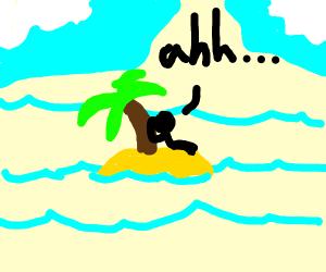 Lounging on an Island
