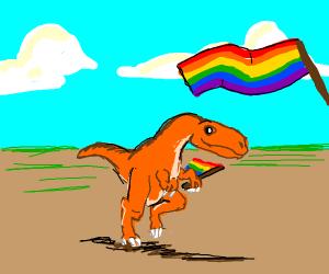 Dakotaraptor at Pride