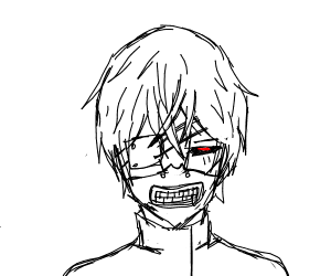 Kaneki Ken with ghoul mask