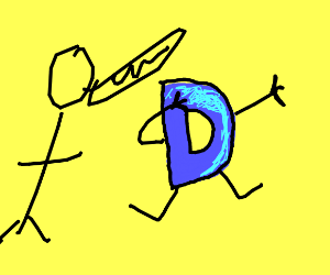 man yells at drawception