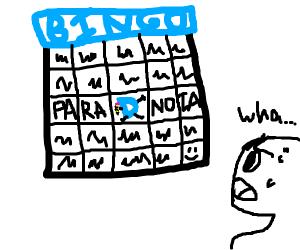 Drawception Bingo makes gives you paranoia