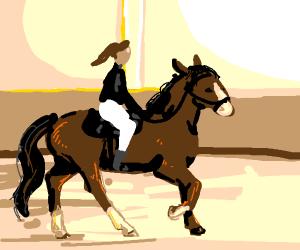 human ride horse
