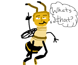Barry from Bee Movie looking up