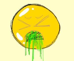 barfing emoji