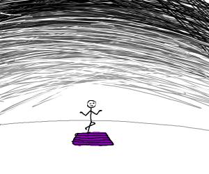 stickman doing yoga
