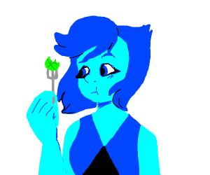 Lapis Lazuli (Steven Universe) eat Spinach