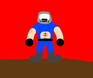 Doom guy is blue
