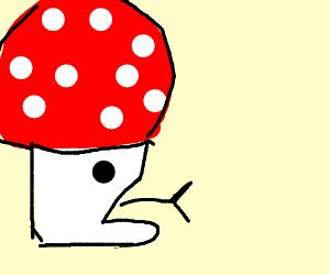 Mushroom consumes man
