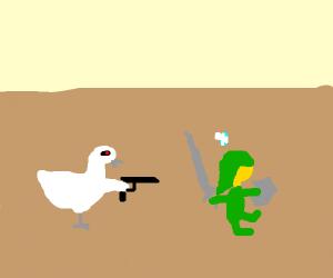 Terminator Chicken will kill Link