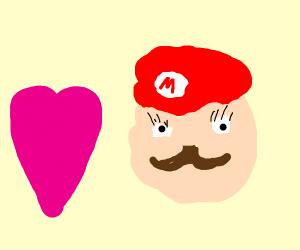 Kawaii Mario gains affection