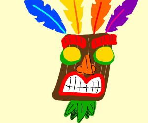hooga booga mask from crash bandicoots shadow