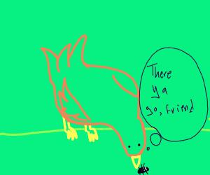 Bird planting a bug