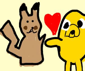 Mimikyu loves Jack the dog