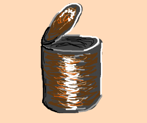 A rusty can