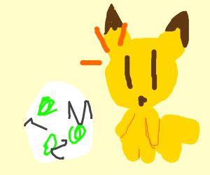 pikachu surprised buy eggs hatching