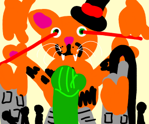 Giant Garfield destroys a City