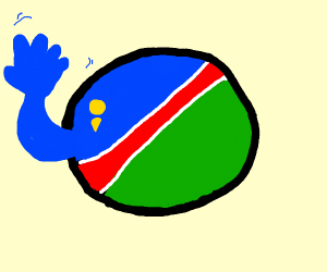 "Nambia countryball says ""Hello!"""