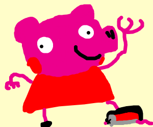 Peppa pig crushes mouse