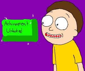 Morty unlocks achievement
