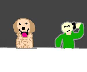 A dog as a Customer Service Employe